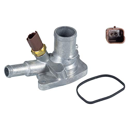 febi bilstein 34957 Thermostatgehäuse mit Temperaturschalter und Dichtung , 1 Stück