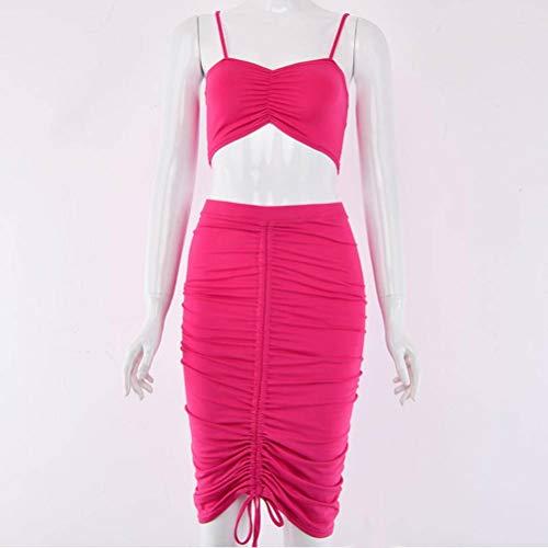 Kleid Der Sommerfrau/Kleid, Dünnes Abend-Partykleid, Art und Weise Eleganter Cocktailabend-Party-Kleid-Abschlussball-Kleid-Temperament-Spielanzug, Good dress, Rose rot, m