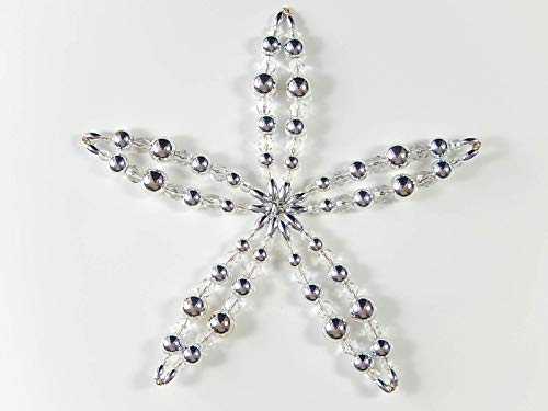 Perlenstern Stern Blüte Weihnachtsdeko Weihnachten Mitbringsel