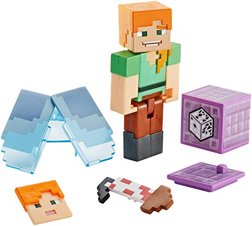Product Image of the Minecraft Alex Action Figure