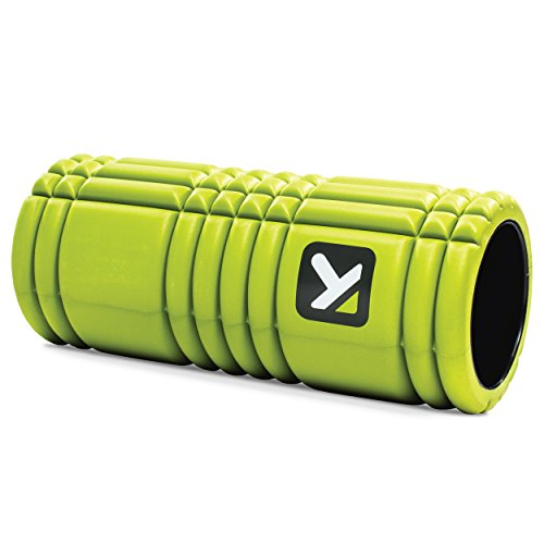 TriggerPoint Grid Foam Roller, Deep Tissue Muscle Massage, Versatile Foam Roller, Multi Purpose, with Free Online Instructional Videos, Lime, 13''/33cm