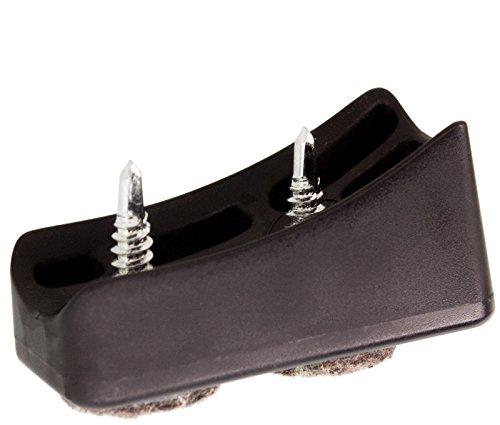 Dekaform Filzgleiter Fi-203-25 R70 Schalengleiter - Gleitkufe Stuhlgleiter fuer gebogene Rohre Freischwinger Bürostuhl Möbelgleiter Kunststoff Bodenschoner Filz Stuhl Gleiter zum Schrauben