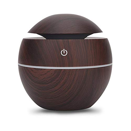 Househould Air Purifier, House Air Humidifier, Small Scented Air Freshener Round Ball Shape Usb Rechargeable Aroma Diffuser Humidifier(Deep wood grain)