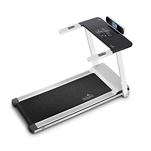 Limepeaks Foldable Cardio Fitness Running Machine with 12 Pre-installed Programmes and Speeds of 14KM/h Treadmill Gym Equipment - White
