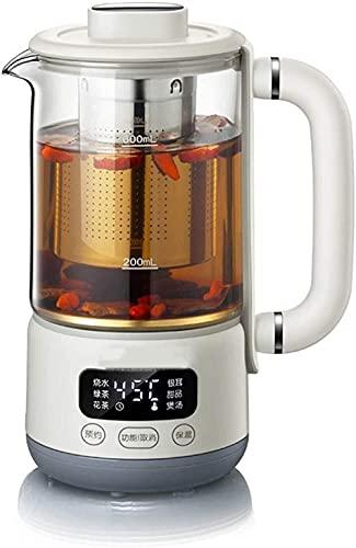 Hervidores portátil multifuncional de vidrio Salud Copa se puede reservar para la preservación automática del calor durante 12 horas de té perfumado eléctrico del hogar (color: A)-A