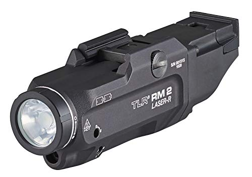 Streamlight 69448 TLR RM 2 Laser, Light Only, 1000 Lumens Compact Rail Mounted Tactical Light, Includes Key Kit and Two CR123A Lithium Batteries, Black, Box Packaged