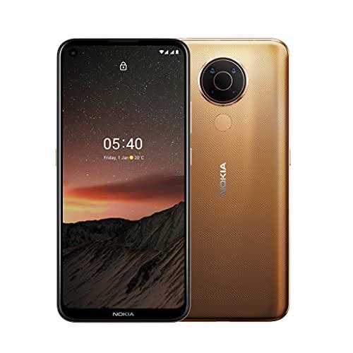 Nokia 5.4 Smartphone mit 6,39-Zoll-HD+-Display, 4 GB RAM, 128 GB Speicher, 48-MP-Vierfach-Kamera, Qualcomm Snapdragon 662, 2 Tagen Akkulaufzeit und Android-Upgrades, Dual-SIM - Midnight Sun