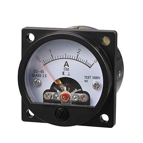 Messbereich AC 0–3A Runde Analog Panel Meter Current Ammeter Gauge schwarz de
