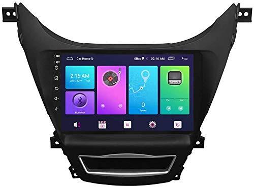 Android Sat Nav para Hyundai ELANT Avante 2012, GPS Navigation HD Sistema de Pantalla táctil Unidad de Cabeza Coche Estéreo Radio SWC 4G WiFi Espejo Enlace BT,4 Core 4G+WiFi 2+32G