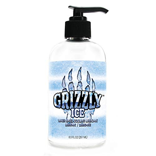 Nature Lovin' Grizzly Ice Water Based Cooling Personal Lubricant, 8.5 oz Glycerin and Paraben Free
