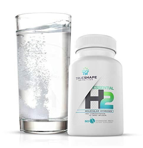 TrueShape Nutrition Essential H2 Fizzy Molecular Hydrogen Tablets for Water Nutritional Supplement (60 Servings)