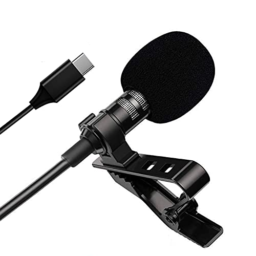 Lavalier Microphone for Phone USB C Clip on Lapel Mic for Type-C Android Mini...