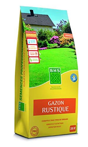 BHS GRU5 | 5kg | 200 m² | Gazon Rustique | Jardins Traditionnels | Tous Types de Sol | Dense et esthétique | S'Installe Rapidement et durablement, Homogène