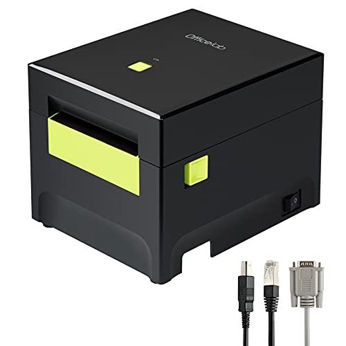 """Officelab Impresora Thermica, Impresora Tickets Compatible con Papel Térmico de Recibos de 80mm y 58mm (3 1/8"""" y 2 1/4""""). Compatible con Windows y Mac OS, PR02002"""