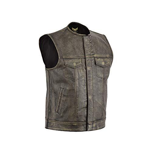 Leatherick - Chaleco - para Hombre Marrón marrón XXXXXL