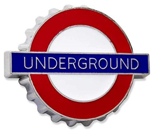 GWC London Underground Schild Underground Metall Kühlschrankmagnet Flaschenöffner