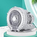 HLXB Ring Blower for Fish Tank Regenerative Blower 110V 370W Vortex Gas Pump Single Phase Centrifugal Blower...