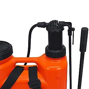 Flesser Backpack Sprayer 4 Gal Sprayer for Weed Killer, Knapsack Manual Sprayer No Leak and Heavy Duty Suitable for Agricultural Gardening Use