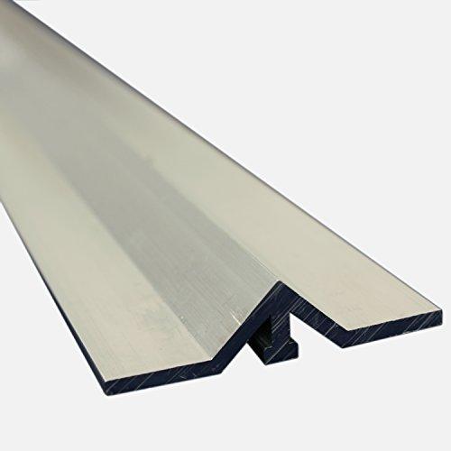 ALEKO ALV-TRACK18FT 18 Feet Aluminum Gate V Track in 3 6 Foot Sections for Sliding Rolling Chain Rack Driveway Gate