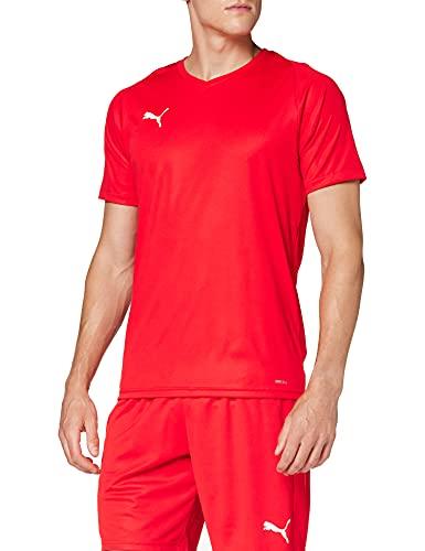 Puma Liga Core Camiseta, Hombre, Rojo Red White, 48/50 (Talla Fabricante: M)