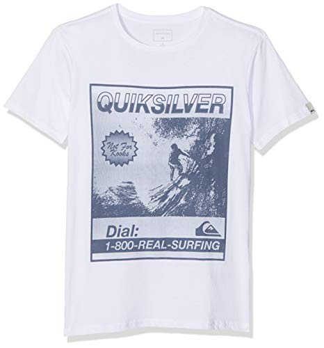 Quiksilver Temple of The Dog T-Shirt Garçon, White, FR : S (Taille Fabricant : S/10)