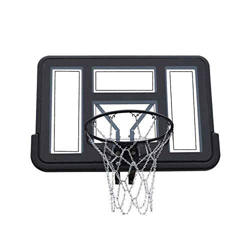 Outdoor-Basketballkorb, Massiver Reifen, an der Wand montierte Basketballbretter, Für 110 x 75 cm großes Basketball-System im Innen- und Außenbereich, Junior-Heimtrainer-Standard-Standard-Rückwand