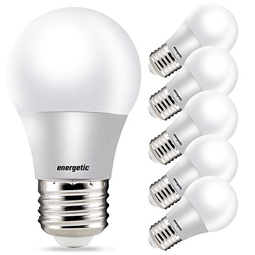 A15 Refrigerator Bulbs 40 Watt Equivalent LED Appliance Light Bulbs, Daylight 5000K, Dimmable, E26 Base, UL Listed, 6 Pack