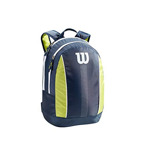 Wilson Mochila de tenis, Junior, Hasta 2 raquetas, Azul marino/verde lima/blanco, WR8012901001