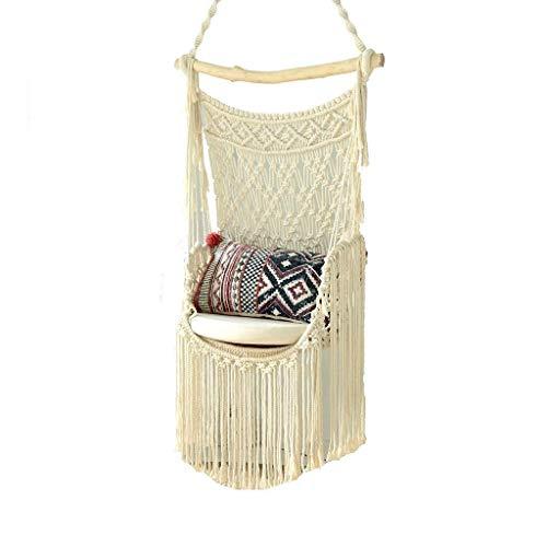 L.TSN Hammock Chair Macrame Swing, Perfect for Indoor/Outdoor Home, Patio, Deck, Yard, Garden