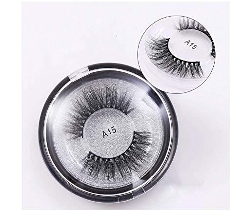 HYTGF Faux Cils Styles Cils Outils de Maquillage de Mode Faux Cils Cross Cury Curl Natural Long Eye Lashes Épais Faux Cils