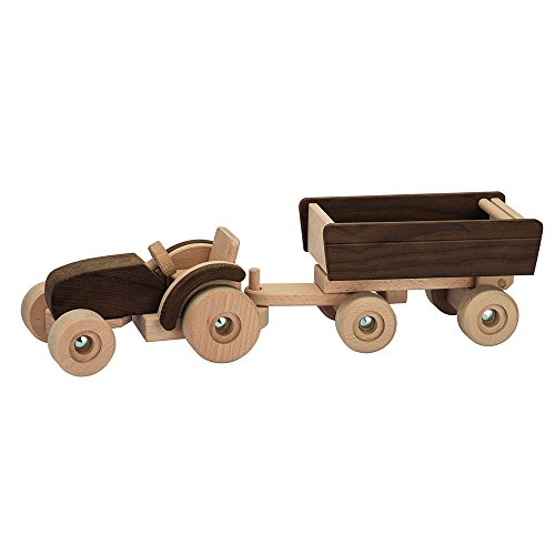 Goki - 2041461 - Figurine Transport Et Circulation - Tracteur avec Remorque