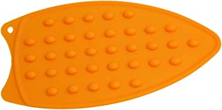 Cngstar Silicone Iron Rest Pad Ironing Heat Resistant Anti-Slip Mat Accessory,Orange