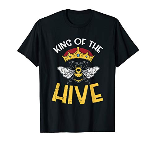 Bee keeper tee, King Of The Hive, Graphic Crown, Bee T-Shirt