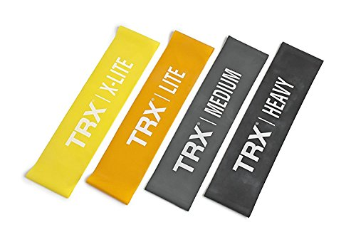 TRX Training Set of 4 Mini Bands, Safely Increase Intensity of Workouts