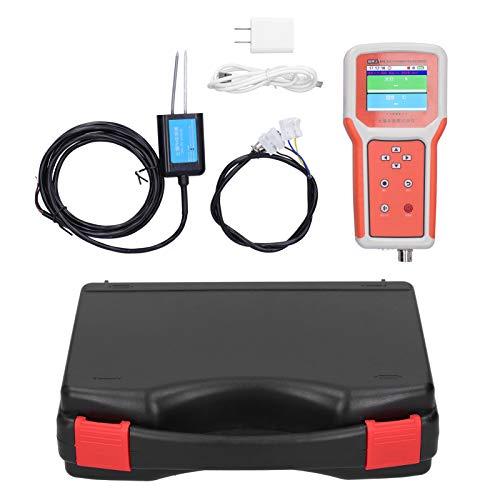 Juego de probador de suelo Eujgoov, medidor de pH digital de suelo LCD de 2.8 pulgadas con registrador multiparámetro de sensor de pH EE. UU. 100-240 V(N01)