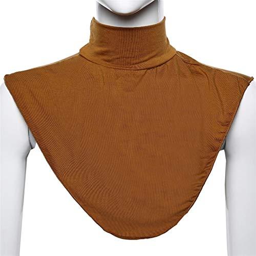 Ztengyu-Cuello de imitación Cubierta de Collar Falsa Color sólido de Las Mujeres, Cuello de Tortuga Dickey Desmontable Medio Top Collar Falsa Accesorios de Ropa (Color : Camel)