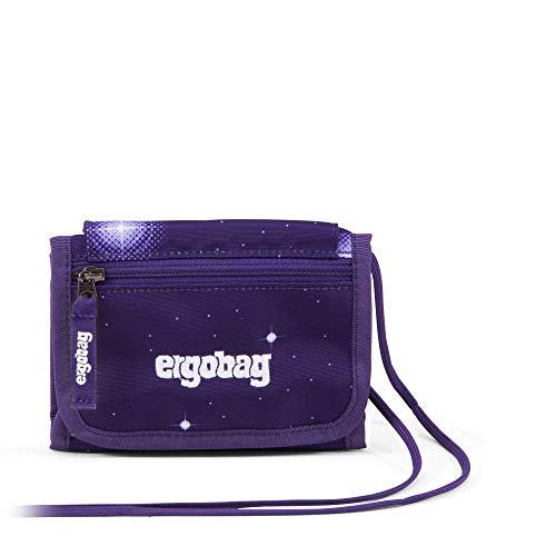 Ergobag Brustbeutel Bärgasus Glow, Galaxy Glow Edition, Kleingeldfach, Sichtfenster, Schlüsselring, Lila Galaxie Glow
