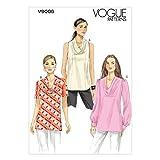 VOGUE PATTERNS V9006 B5 - Patrones de Costura para Camisetas (Tallas 8-16), Multicolor