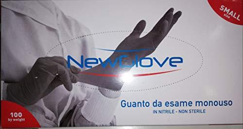 Guanti da esplorazione in nitrile senza polvere AQL 1.0, elevata resistenza e ottimo grip, conf. 100 pezzi (Taglia S)