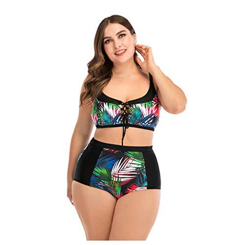 Zylione Bikini Große Größen Mode Sommer Bademode U-Ausschnitt Tankinis Backless Swimwear Vielzahl von Drucken Beachwear Strand Schwimmbad Zweiteilige Badeanzug