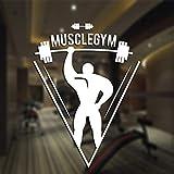 ASFGA Fitness Aufkleber Fitnessstudio Langhantel Aufkleber