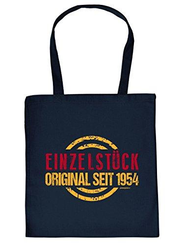 Goodman Design  60. Geburtstag: Jutetasche Einkaufstasche Stoffbeutel Einzelstück seit 1954 Zielscheibe