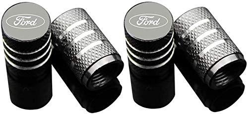 4 Stück Aluminium Autoreifen Ventilkappen Auto Rad Staubschutzkappe Mit Logo Emblem, für Fords Focus 2 3 1 MK2...
