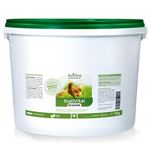 AniForte Stall Vital Granulat für Hühner 10kg - natürliche Unterstützung für Stallklima, & Stallhygiene, Legequalität, Naturprodukt für Geflügel
