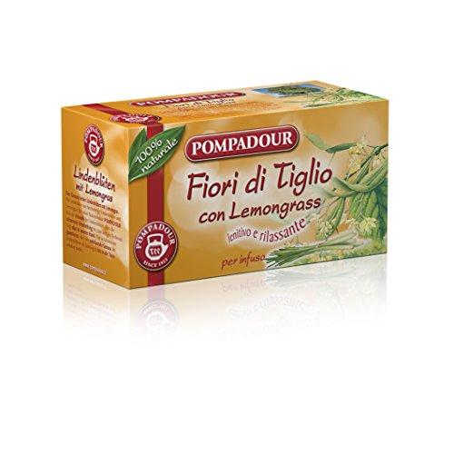 Pompadour - Fiori di Tiglio, per Infuso Lenitivo e Rilassante - 20 filtri - [confezione da 3]