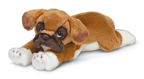 Bearington Roscoe Boxer Plush Stuffed Animal Puppy Dog, 15 inch