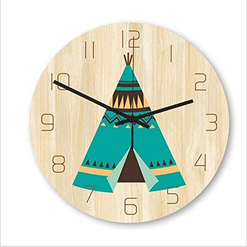 Animal Nordic Cartoon Cute Pet Material Acrílico Movimiento Silencioso Dormitorio Sala Reloj Decorativo