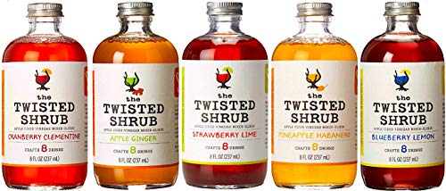 The Twisted Shrub | 5-Flavor Variety Pack | Apple Cider Vinegar Drink Mixers for Healthier Sodas & Cocktails | 8oz bottles
