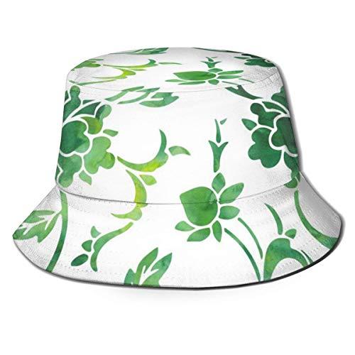 Lawenp Green Plant Hombre Mujer Tendencias Moda Sombrero de Cubo
