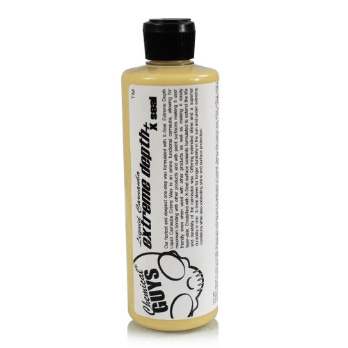 Chemical Guys WAC_111_16 Extreme Depth Liquid Carnauba Creme Wax + X-Seal (16 oz)